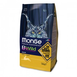Monge 天然貓糧 - 低穀物 成貓 野生兔肉 配方 1.5kg (3.3lb)
