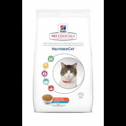 [凡購買處方用品, 訂單滿$500或以上可享免費送貨]  Hill's VetEssentials Adult Neutered Cat 獸醫配方絕育乾貓糧 (吞拿魚味) 1.5kg