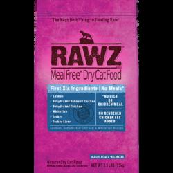Rawz 無穀物低溫烘焙三文魚, 脫水雞肉, 白肉魚貓糧 10lb (藍) x3包優惠