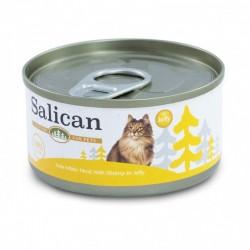 Salican 挪威森林 白肉吞拿魚、鮮蝦 啫喱貓罐頭  85克
