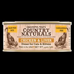Country Naturals 無穀物雞肉嫩肝醬煮配方 貓罐頭 5.5oz
