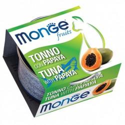 MONGE 清新水果系列 - 吞拿魚木瓜 貓罐頭 80g