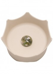 CrownJuwel - 寵物寶石碗 自然.白