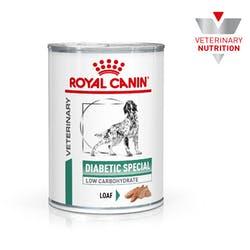 [凡購買處方用品, 訂單滿$500或以上可享免費送貨]  Royal Canin - Diabetic Special Low Carbohydrate 糖尿病(低碳水化合物)處方 狗罐頭 410g x12罐原箱
