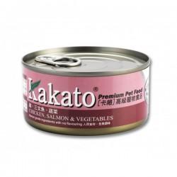 卡格 雞, 三文魚, 蔬菜 Kakato Chicken, Salmon & Vegetables 170g