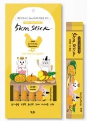 5km Stick 營養蔬果寵物零食肉泥-雞胸肉 (14g x4小包) <黃色>