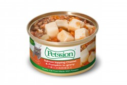 Petssion 汁煮三文魚野菜芝士 貓罐頭 80g