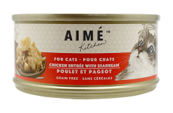 Aimé Kitchen 雞肉配鯛魚 Chicken with Seabream 貓罐  x24罐優惠