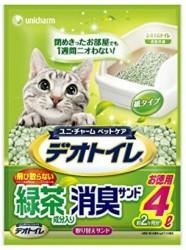 日本 Unicharm 消臭大師 滲透式綠茶紙貓砂 4L x4包優惠