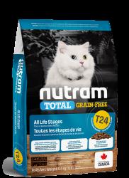 Nutram T24 無穀物三文魚+鱒魚 全貓糧 1.13kg  到期日: 12/ 06/2021