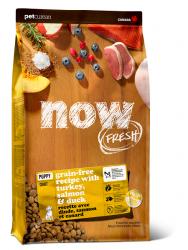 NOW FRESH™ 全犬種 無穀物 幼齡狗糧配方 (火雞+三文魚+鴨肉) 22磅