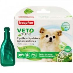 Beaphar VETO Nature 自然滴劑 (1盒3支 - 小型犬15kg 以下)   到期日: 25/09/2021