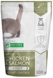 Nature's Protection 貓濕包 – 體重控制  雞+三文魚口味 (成貓用) 100g