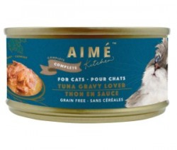 Aimé Kitchen 經典系列 特濃魚汁熬鮮吞拿魚  貓罐 85g (天藍罐) x24罐 原箱優惠