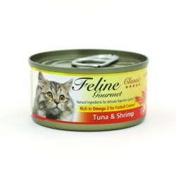 Feline Gourmet  化毛球 吞拿魚+蝦 80g• 控制毛球