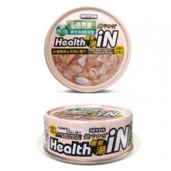 Seeds Health iN 機能湯罐-白身鮪魚+花枝+維他命B群 貓罐頭 80g