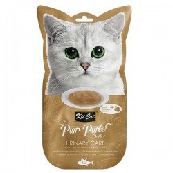 Kit Cat Purr Puree Plus+ 蔓越莓吞拿魚醬 (泌尿護理) 貓小食 60g (15g x4小包) <金色>