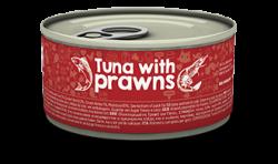 Naturea 無榖物鮮肉貓罐頭 - 吞拿魚+蝦 80g