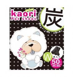 Kaori pet sheets 竹炭厚尿片 45x60cm 50片 x4片優惠