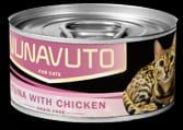 Nunavuto 吞拿魚雞肉貓罐 80g