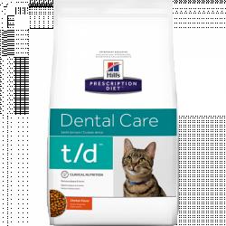 [凡購買處方用品, 訂單滿$500或以上可享免費送貨]  Hill's t/d獸醫配方貓乾糧4磅
