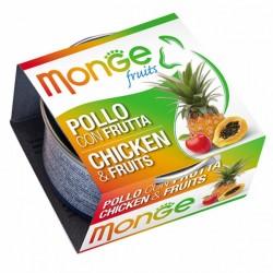MONGE 清新水果系列 - 雞肉+雜果 貓罐頭 80g