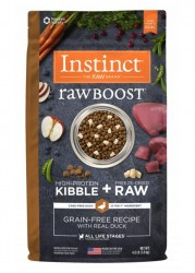 Nature's Variety Instinct 生肉粒 無穀物 鴨肉配方 狗糧 4磅