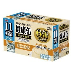 Aixia 11+ 健康慕斯貓罐-雞肉+吞拿魚 (KCE6-11)  40g x6罐裝