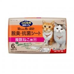 日本花王 1週間多貓用消臭抗菌尿墊 6片裝 (45 X 35cm)