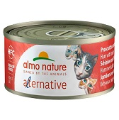 Almo Nature Alternative 火腿與芝士貓罐頭-70g  到期日: 02/2021