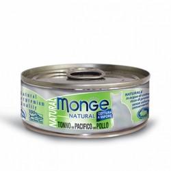 Monge 野生海魚系列 - 黃鰭吞拿魚配雞肉 貓罐 80g