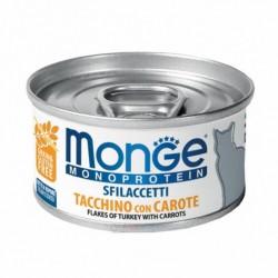 Monge 單一蛋白貓罐頭 - 火雞肉+胡蘿蔔 80g