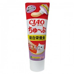 CIAO 貓貓食用吞拿魚醬+海鮮醬 綜合營養食(牙膏裝)CS-157 80g