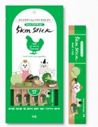 5km Stick 營養蔬果寵物零食肉泥-火雞胸肉 (14g x4小包) <綠色>