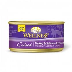 Wellness粒粒火雞三文魚罐頭 3oz (85g)Cubed Trukey & Salmon Entree