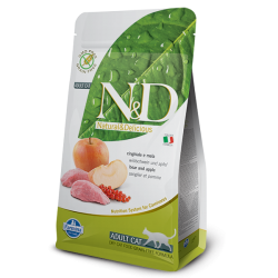 Natural & Delicious 蘋果加野豬成貓配方乾糧 1.5kg