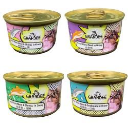 Grandee 無穀物 貓罐頭 4款 試食優惠 (每味1罐, 共4罐)