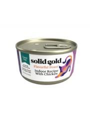 Solid Gold 室內貓雞肉配方 肉醬貓罐 3oz