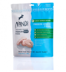 Nandi 天然凍乾KAROO鴕鳥肉狗乾糧 400g