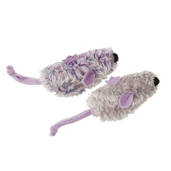 KONG Refillable Purple Mouse & Frosty Grey mouse 2-pack Toy 鼠鼠貓草套裝