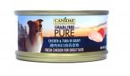 購物滿$300, 可以以$12換購<<Canidae Pure 無穀物 全犬主食罐頭 雞肉與白身吞拿魚 70g>>