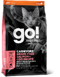 Go! CARNIVORE 活力營養系列 無穀物三文魚鱈魚 貓糧 8磅