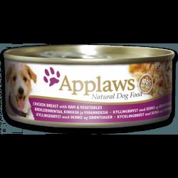 Applaws 全天然狗罐頭 雞柳, 火腿, 菜 156g