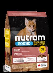 Nutram (S1) 雞肉、三文魚及扁碗豆配方 幼貓糧 1.13kg