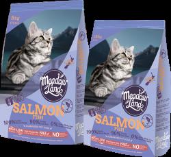 Meadowland 無穀物美毛配方全貓糧 (三文魚味) 5kg x2包優惠
